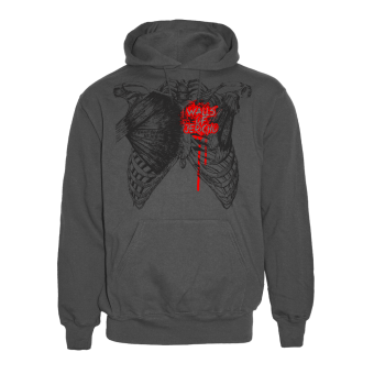 "Walls of Jericho ""Chestbone"" Hoody (charcoal)"