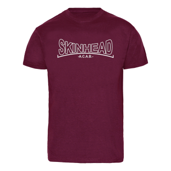 "Skinhead ""A.C.A.B."" T-Shirt (bordeaux)"