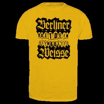 """Berliner Weisse """"Halt Dein Maul"""" T-Shirt (yellow)"""
