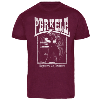 "Perkele ""Negative to positive"" T-Shirt (bordeaux)"