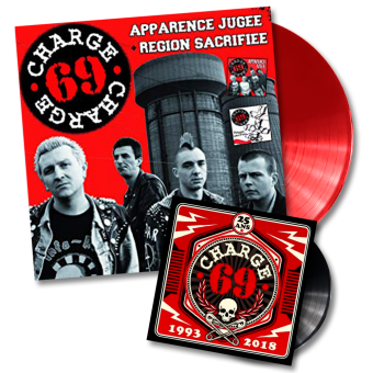 "Charge 69 ""Apparence Jugee + Region Sacrifiee + 25 ans"" DoLP + EP 7"" (red Vinyl)"