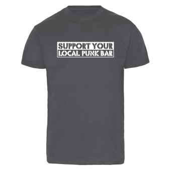 Support your local Punk-Bar - T-Shirt (charcoal) schwarz | XL