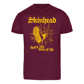 "Skinhead ""Stomp"" T-Shirt (bordeaux) schwarz 
