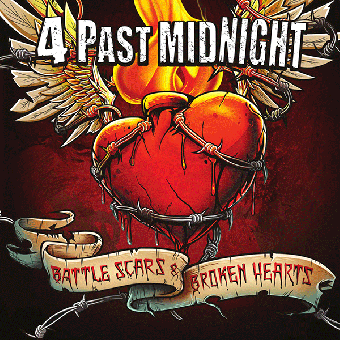 """4 Past Midnight """"Battle Scars & Broken Hearts"""" LP + CD (lim. 150, b/w splatter)"""