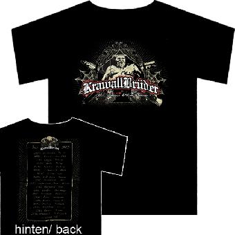 """KrawallBrüder """"Blut, Schweiss und keine Tränen"""" (Tour 2012) T-Shirt"""