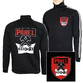 "Pöbel & Gesocks ""Logo"" Trainingsjacke mit Streifen (Slimfit)"