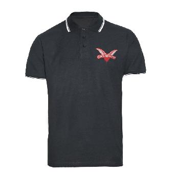 """Cock Sparrer """"Logo"""" Polo (black/ white)"""