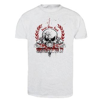"""Emscherkurve 77 """"Durstig wie ein Fisch"""" T-Shirt (white)"""