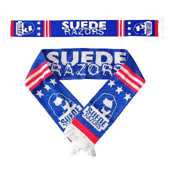 "Suede Razors ""Stars and stripes"" scarf"
