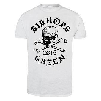 "Bishops Green ""Skull"" T-Shirt (white)"