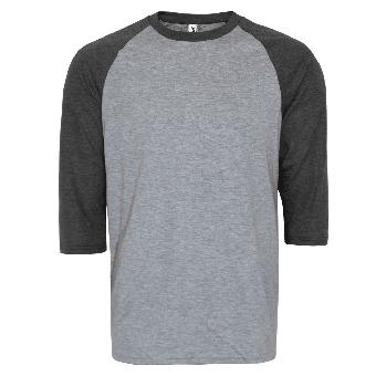 Anvil 3/4 Sleeve Raglan Shirt (grey/darkgrey)