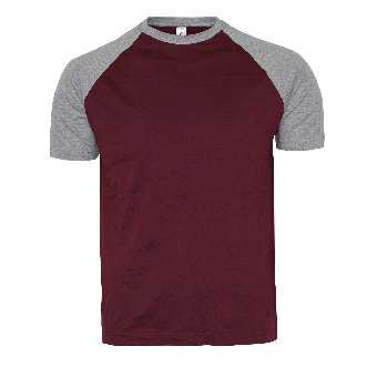 Sol`s Raglan Shirt (burgund/grey)