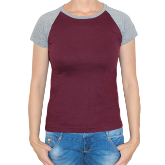 Sol`s Raglan Girly Shirt (burgund/grey)