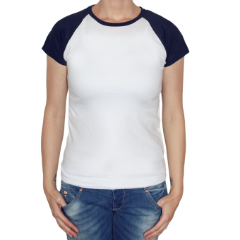 Sol`s Raglan Girly Shirt (white/navy)