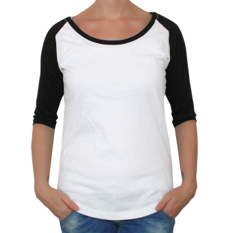 Raglan Girly 3/4 Arm (white/black)