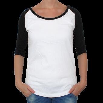 Raglan Girly 3/4 Arm (white/black)