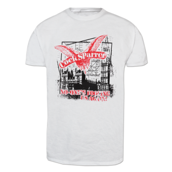 "Cock Sparrer ""No ones fooling us again"" T-Shirt (white)"