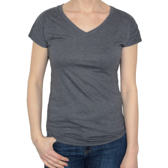 Anvil V-Neck Girly Shirt (darkgrey)