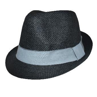 Trilby Sommerhut (black / grey)