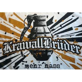"KrawallBrüder ""mehr hass"" Fahne"
