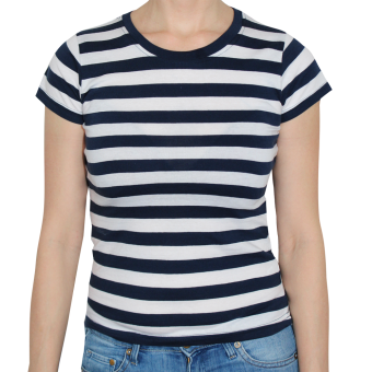 Girly Streifenshirt (blau/weiß)