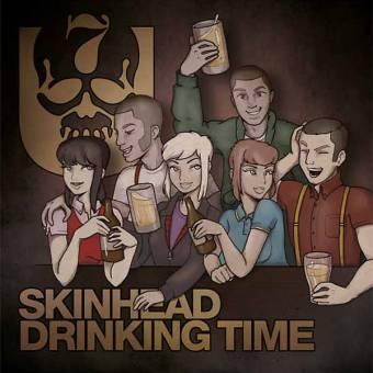 "7er Jungs ""Skinhead Drinking Time"" EP 7"" (black)"