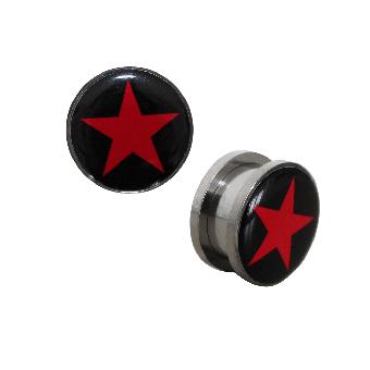 Star Tunnel Plug Stahl (reduziert)