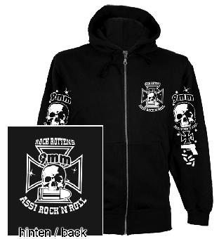 "9mm Assi Rock`n`Roll ""Logo"" ZIP-Hood-Jacket"