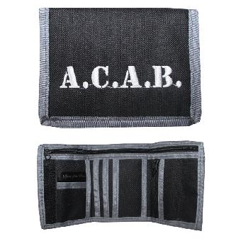 """Geldbörse / Wallet """"A.C.A.B."""" (schwarz/grau)"""