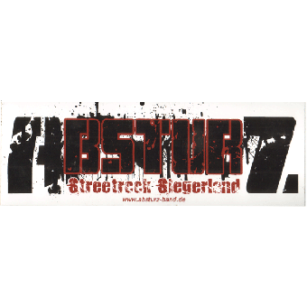 "Absturz ""Streetrock"" Aufkleber 086"