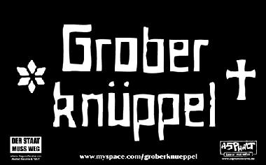 """Grober Knüppel """"Schriftzug"""" - Aufkleber 009"""