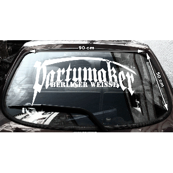 """Berliner Weisse """"Partymaker"""" - Heckscheibenaufkleber (außen / outside)"""