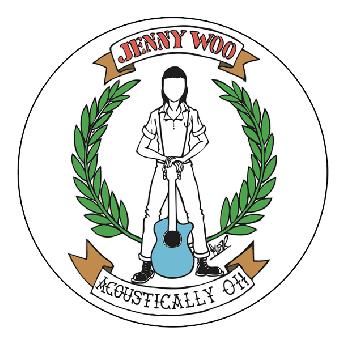 "Jenny Woo ""Logo"" Button (2,5 cm) 083 Neu"