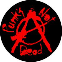 Punks Not Dead (schwarz/rot) - Button (2,5 cm) 444