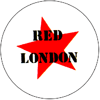 Red London - Button (2,5 cm) 447