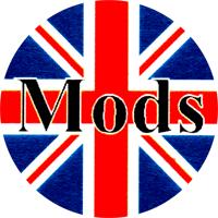 Mods Union Jack - Button (2,5 cm) 454