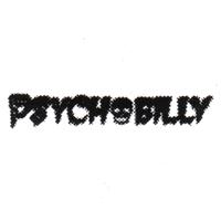 Psychobilly (weiss/schwarz) - Button (2,5 cm) 471