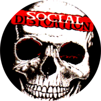 Social Distortion Skull - Button (2,5 cm) 489