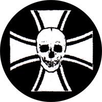 Skull Iron Cross - Button (2,5 cm) 517