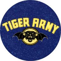 Tiger Army (blau) - Button (2,5 cm) 527