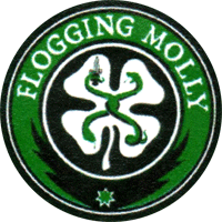 Flogging Molly (Kleeblatt) - Button (2,5 cm) 536