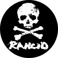 Rancid (Skull) - Button (2,5 cm) 554