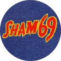Sham 69 (blau) - Button (2,5 cm) 587