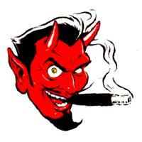 Cigar Devil - Button (2,5 cm) 600