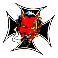 Iron Cross Devil - Button (2,5 cm) 604