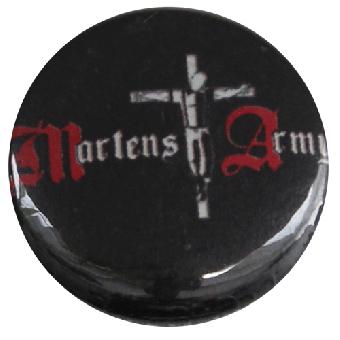 "Martens Army ""Logo schwarz"" Button (2,5 cm) 665NEU"
