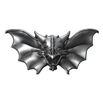 Evil Bat Gürtelschnalle/ Belt Buckle (reduziert)