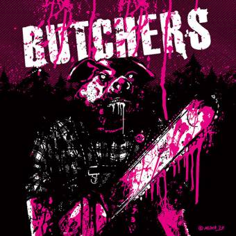 "Butchers ""same"" EP 7"" (lim. 100, black/white/purple splatter) (BW Edition)"