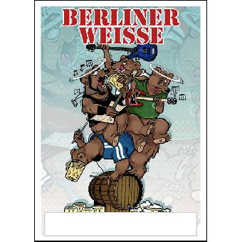 """Berliner Weisse """"Tour 2013"""" Poster (gefaltet)"""