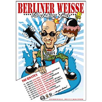 """Berliner Weisse """"Tour 2010"""" - Poster (gefaltet)"""